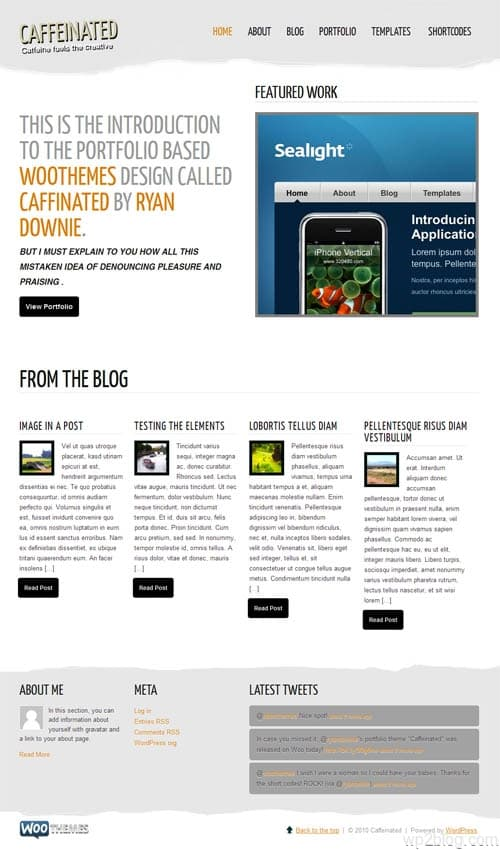 Caffeinated Portfolio Premium WordPress Theme