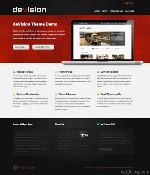devision wordpress theme