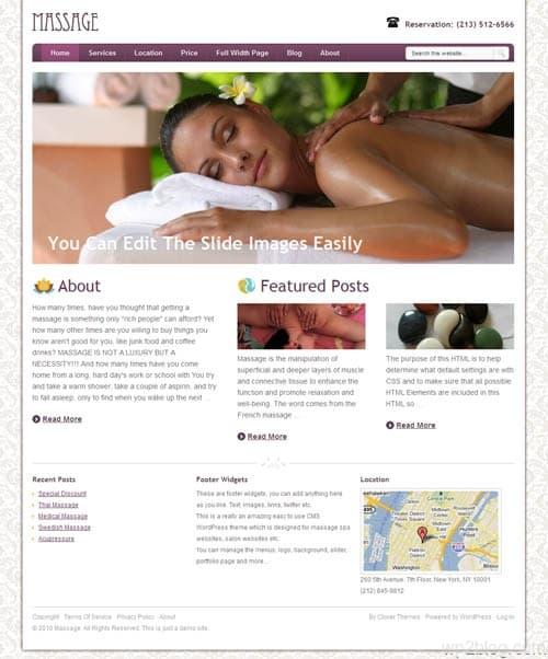 Massage WordPress Theme