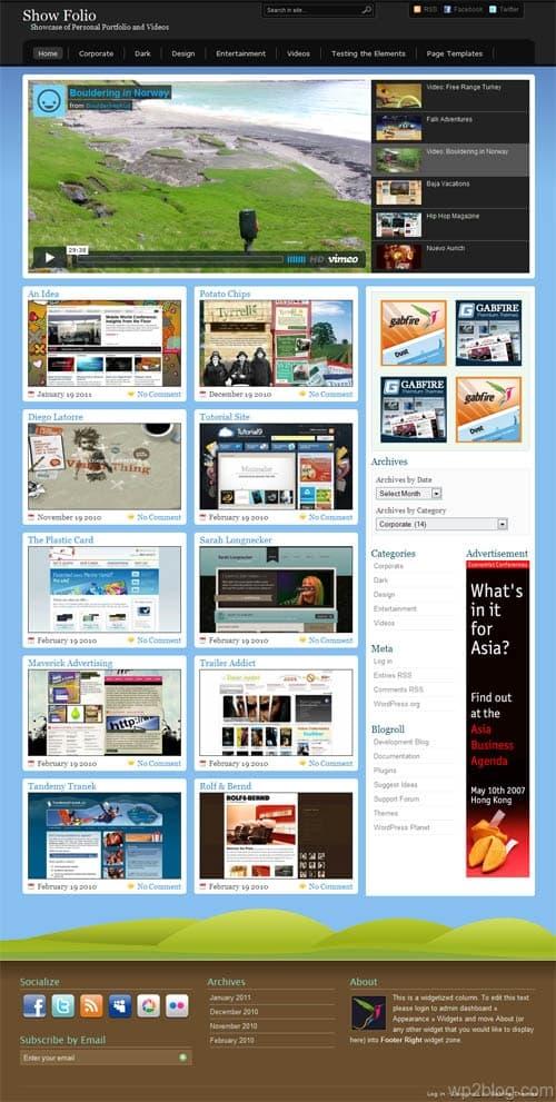Showfolio Video Portfolio WordPress Theme