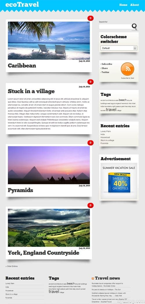 eco travel wordpress theme
