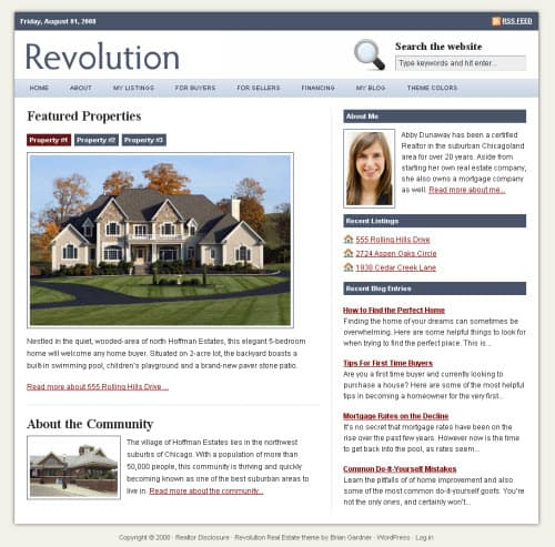 Revolution Real Estate Theme