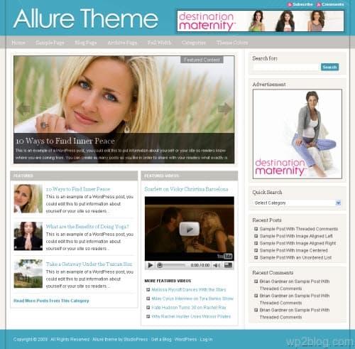 allure wordpress theme