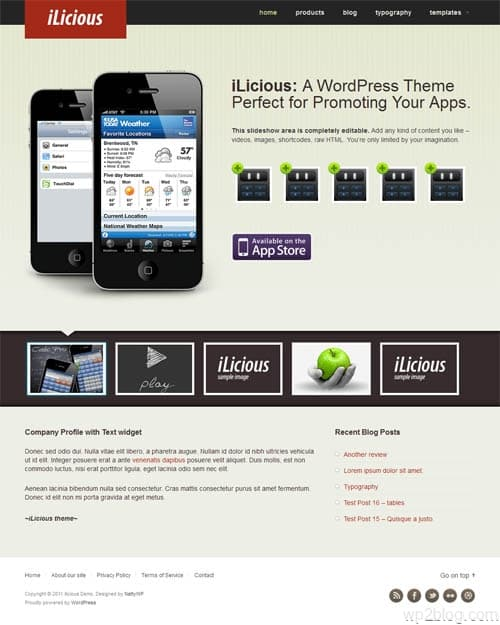 Ilocious Premium WordPress App Theme
