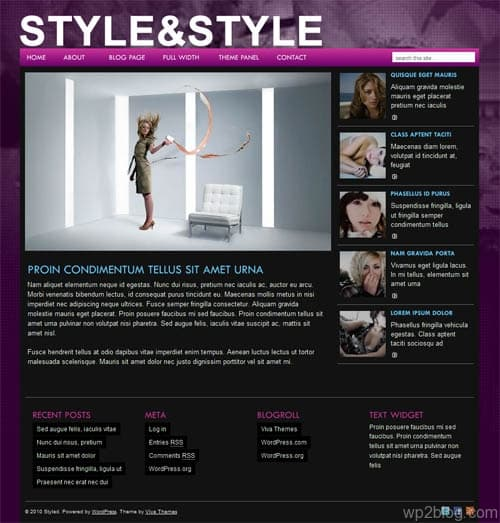 styled premium wordpress theme