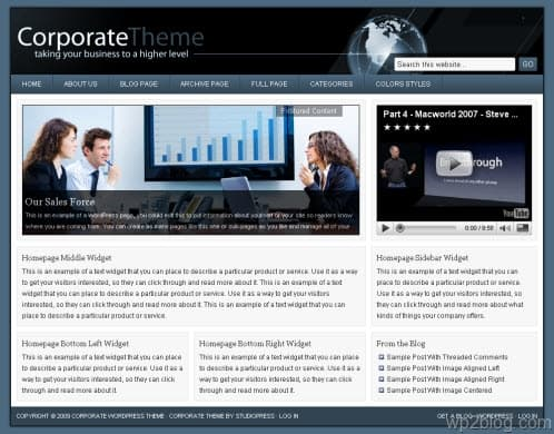 studiopress corporate theme blue