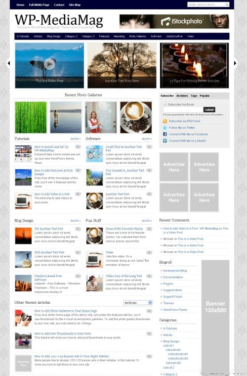 wp-mediamag wordpress theme