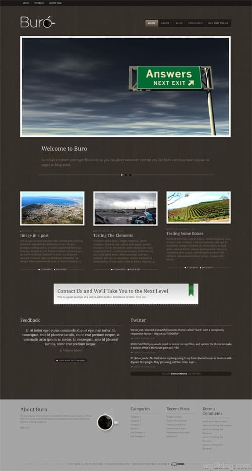 Buro Responsive WordPress Business Theme