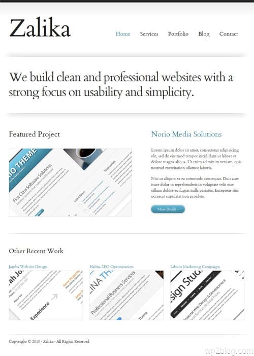 zalika wordpress theme