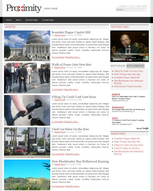 Proximity Theme Archive Page