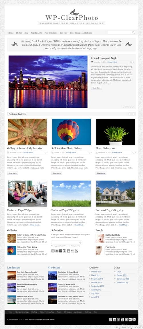 wp clear photo theme