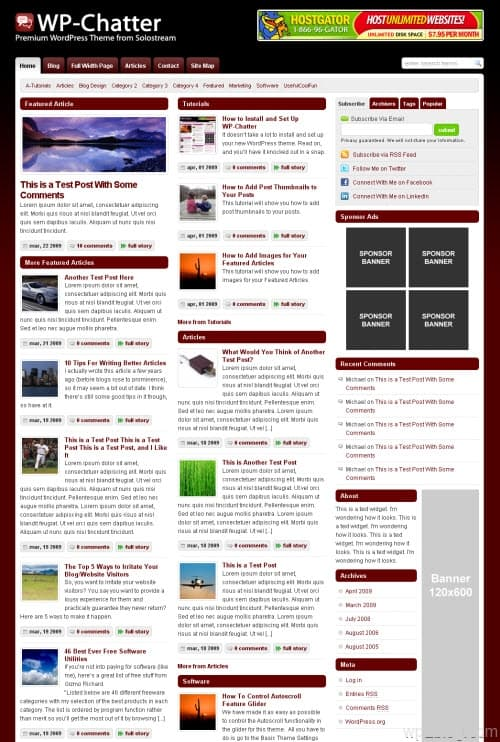 wp-chatter wordpress theme