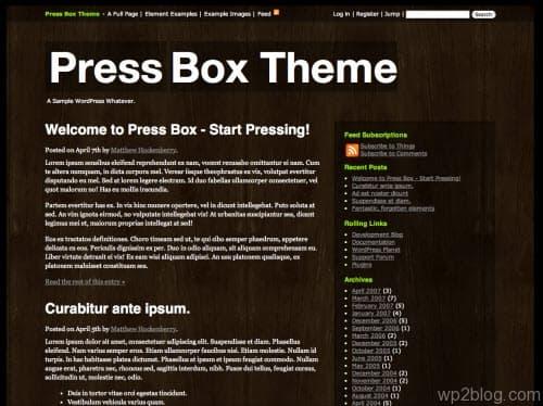 press box theme 3