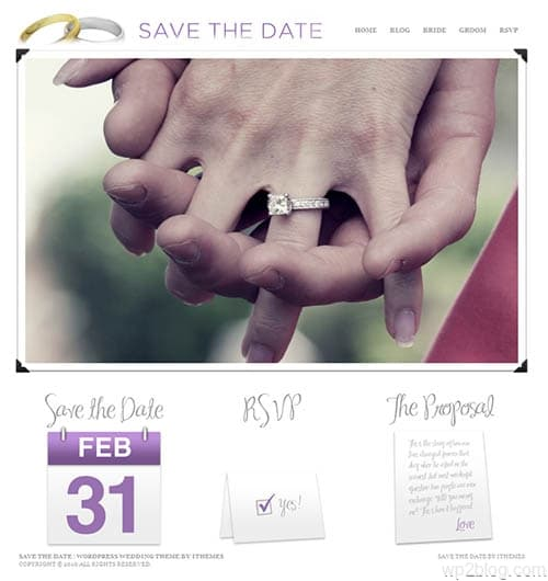 save the date wedding wordpress theme
