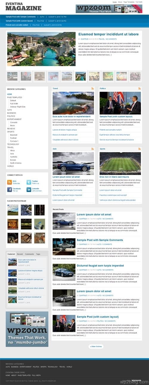 Eventina Magazine 3.0 WordPress Theme