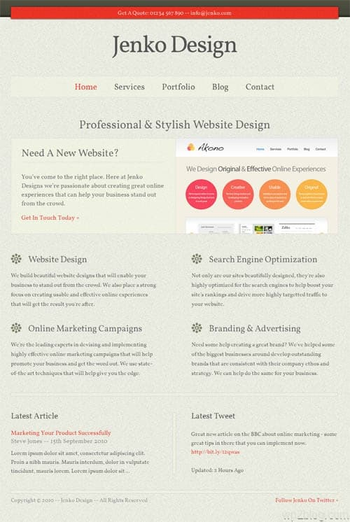 jenko wordpress theme