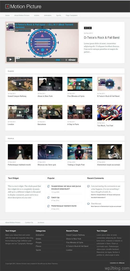 Motion Picture Premium WordPress Video Theme