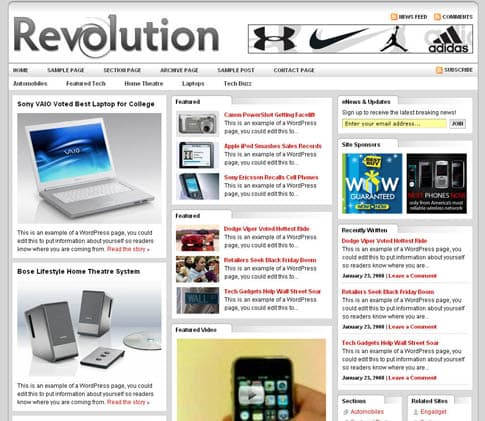 Revolution Tech Theme 3.0