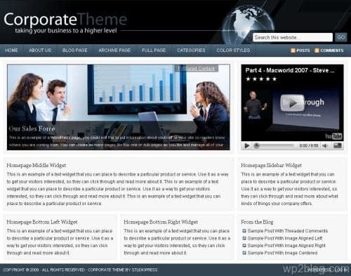 Corporate 2.0 StudioPress WordPress Theme