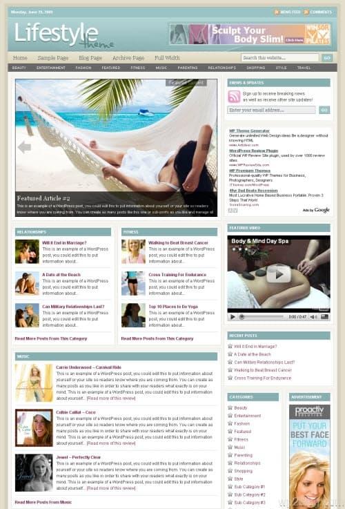 lifestyle 4.0 wordpress theme