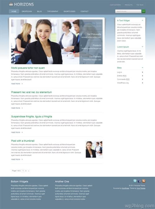 Horizons Corporate Premium WordPress Theme