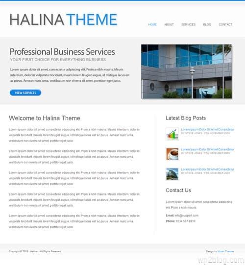 halina wordpress theme