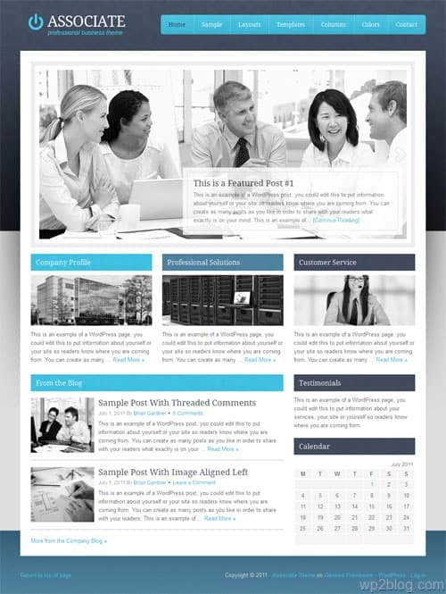 Associate Premium WordPress Business Theme