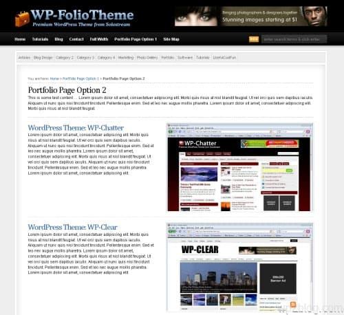 WP-Folio WordPress Theme