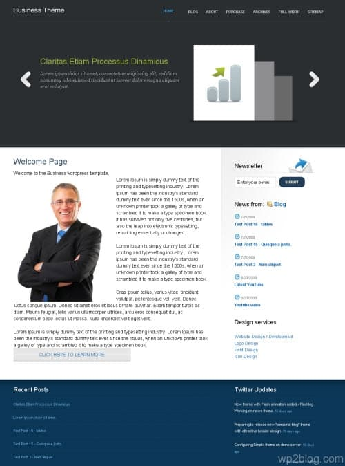 nattywp business wordpress theme
