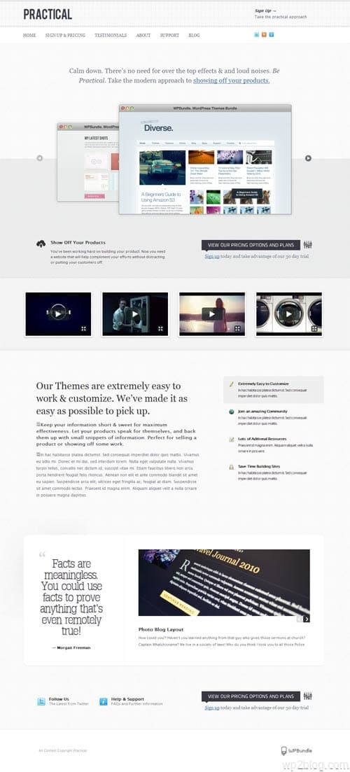 practicle wordpress theme