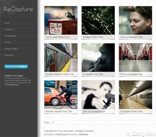 ReCapture Photography Premium WordPress Theme