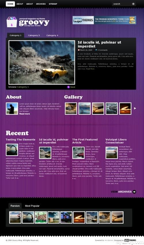 groovy blog wordpress theme
