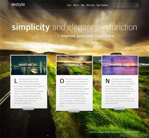 In Style Premium WordPress Theme