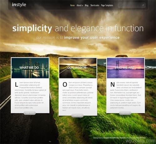 In Style Premium WordPress Theme