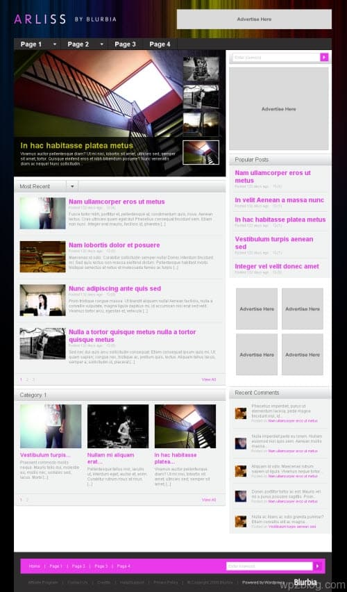 arliss wordpress theme