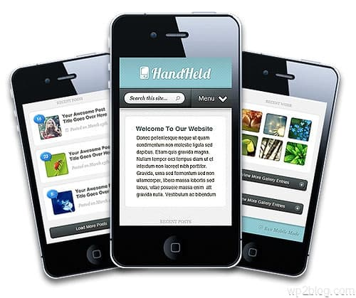 Hand Held Premium WordPress Mobile Theme