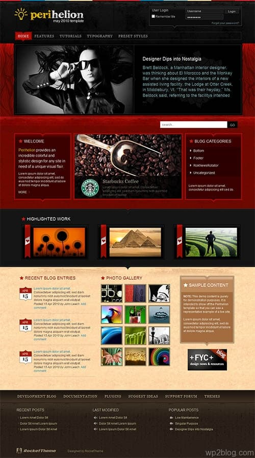Perihelion Premium WordPress Theme
