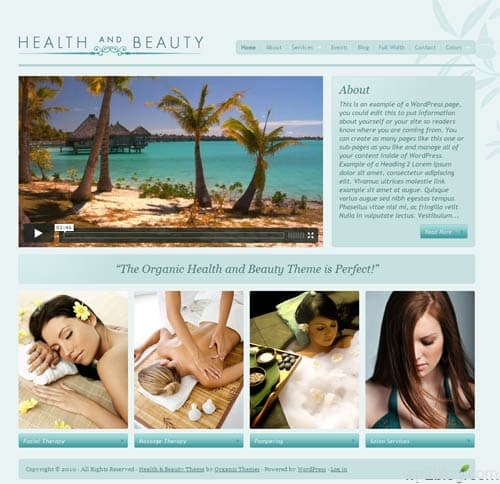 health and beauty wordpress theme