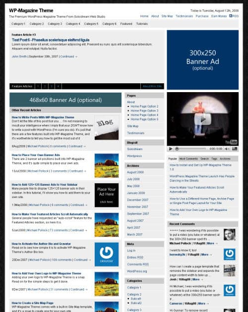 WP-Magazine Theme