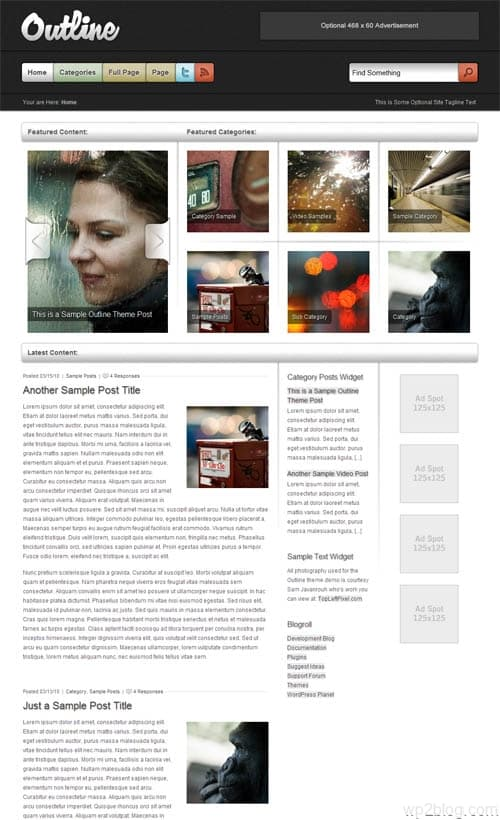Outline Premium WordPress Theme