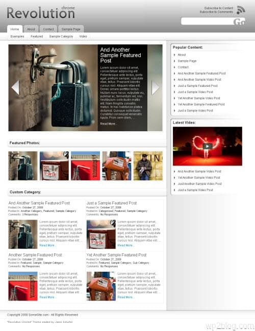 Revolution Chrome WordPress Theme