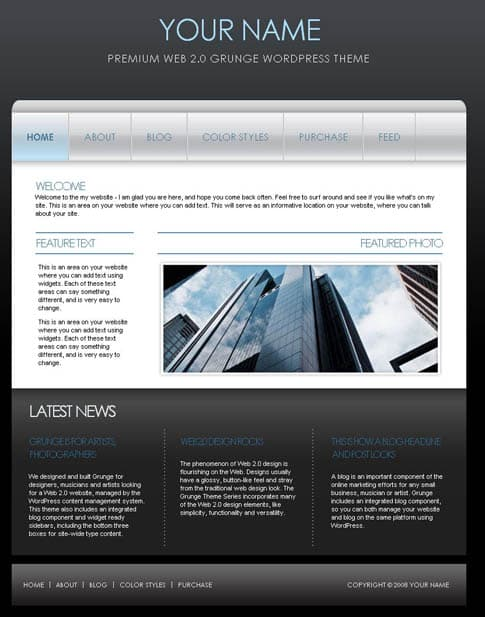 Blue Corporate Theme