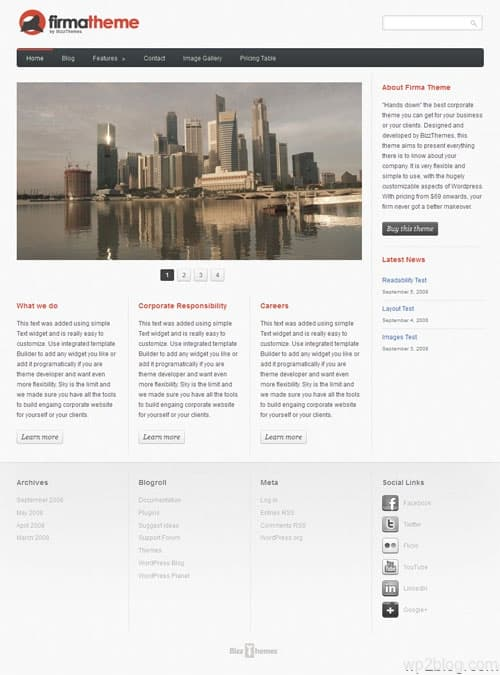Firma Business Premium WordPress Theme