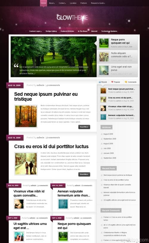 Glow Premium WordPress Theme