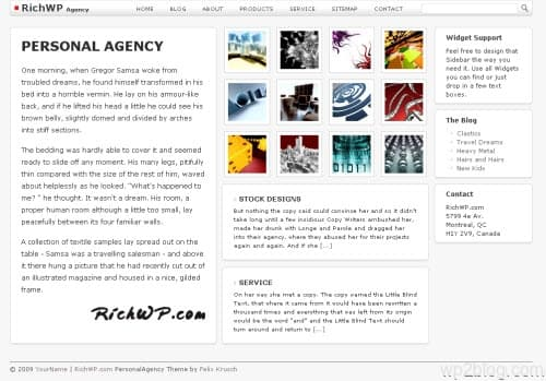 personal agency wordpress theme