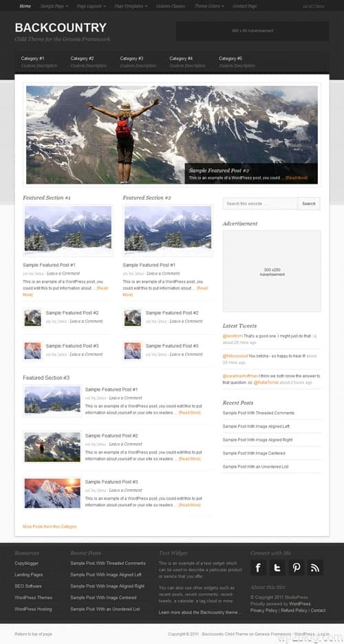 Backcountry Premium WordPress Theme