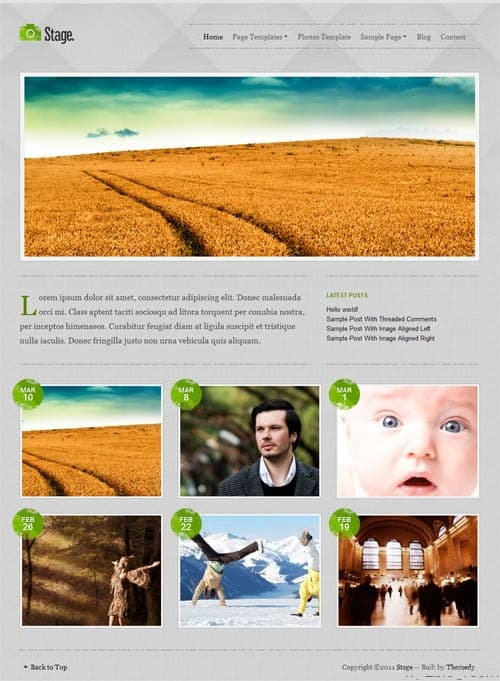 stage wordpress theme