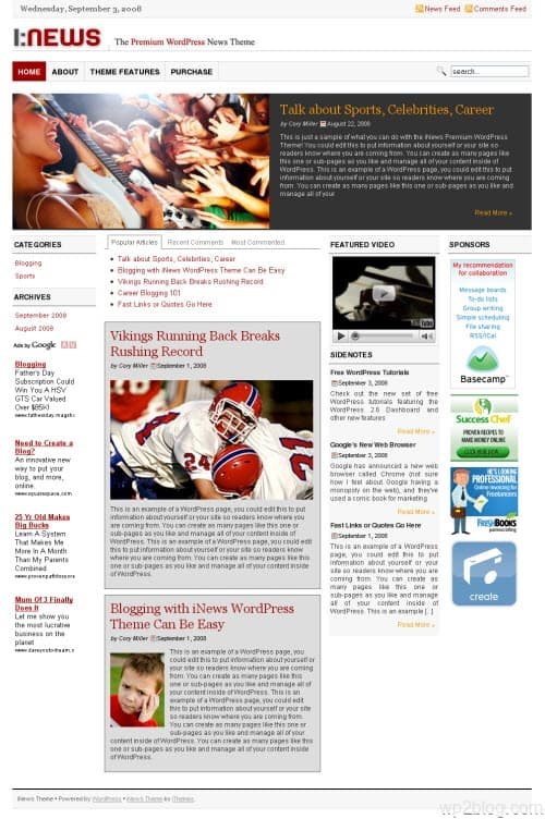 inews wordpress theme