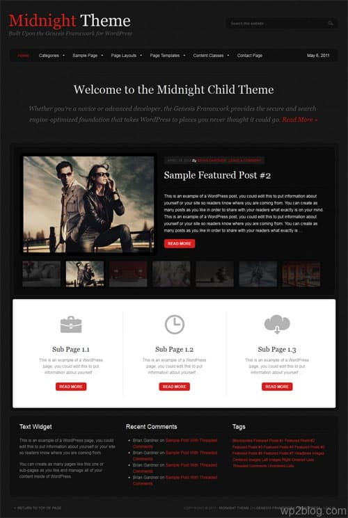 Midnight Premium WordPress Theme