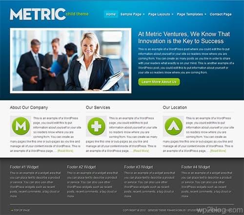 metric wordpress theme